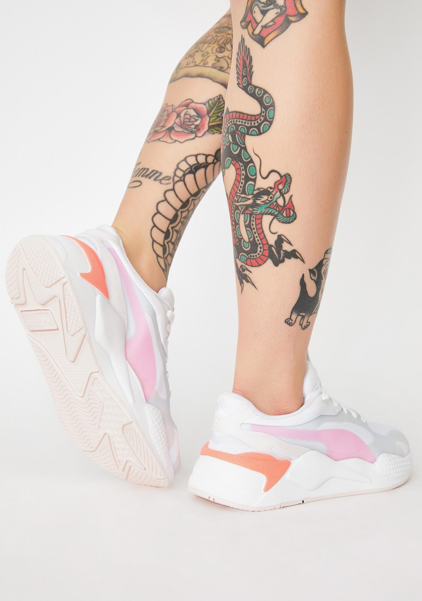 PUMA Rosewater RS-X3 Plas Tech Sneakers