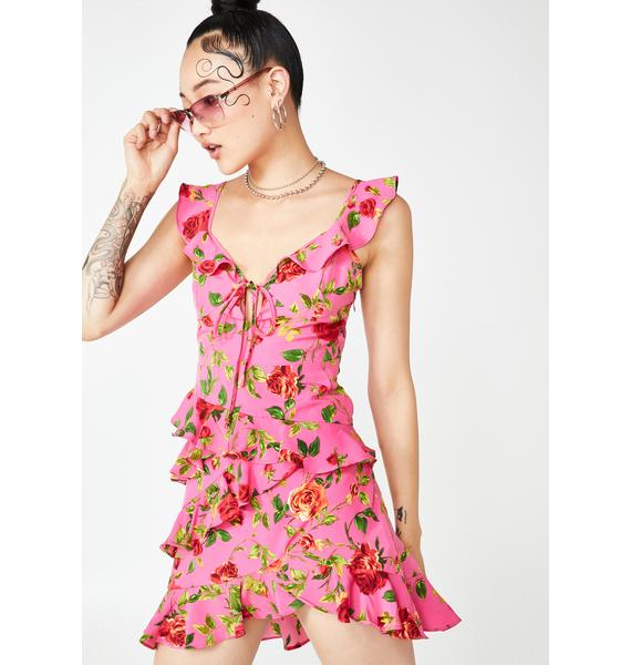 Lush Lyfe Ruffle Dress