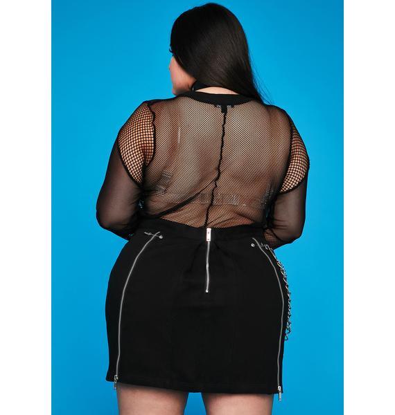 HOROSCOPEZ My Sharp Truths Pleated Skirt