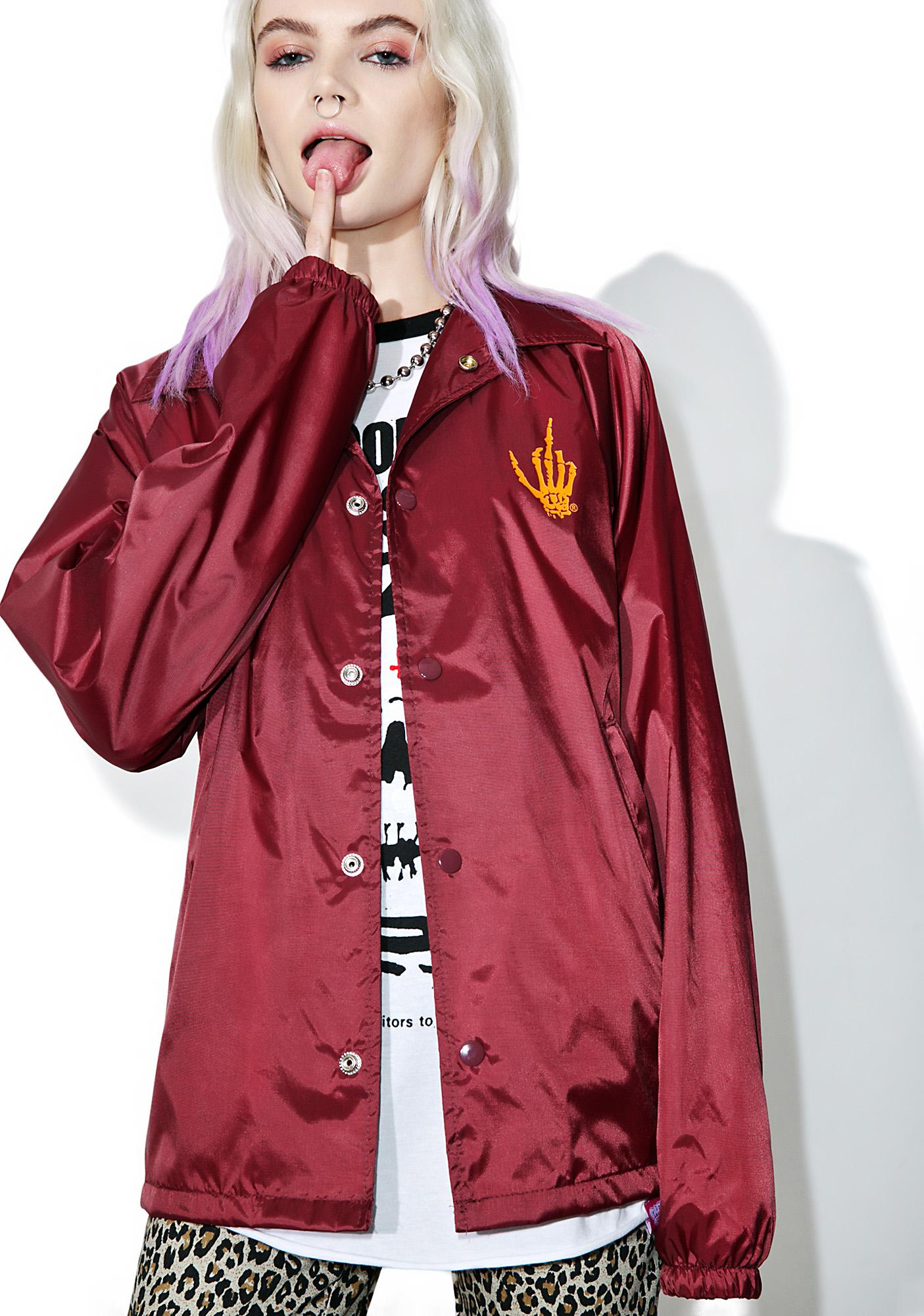 Creep Street Redd Creepy Florist Coaches Jacket