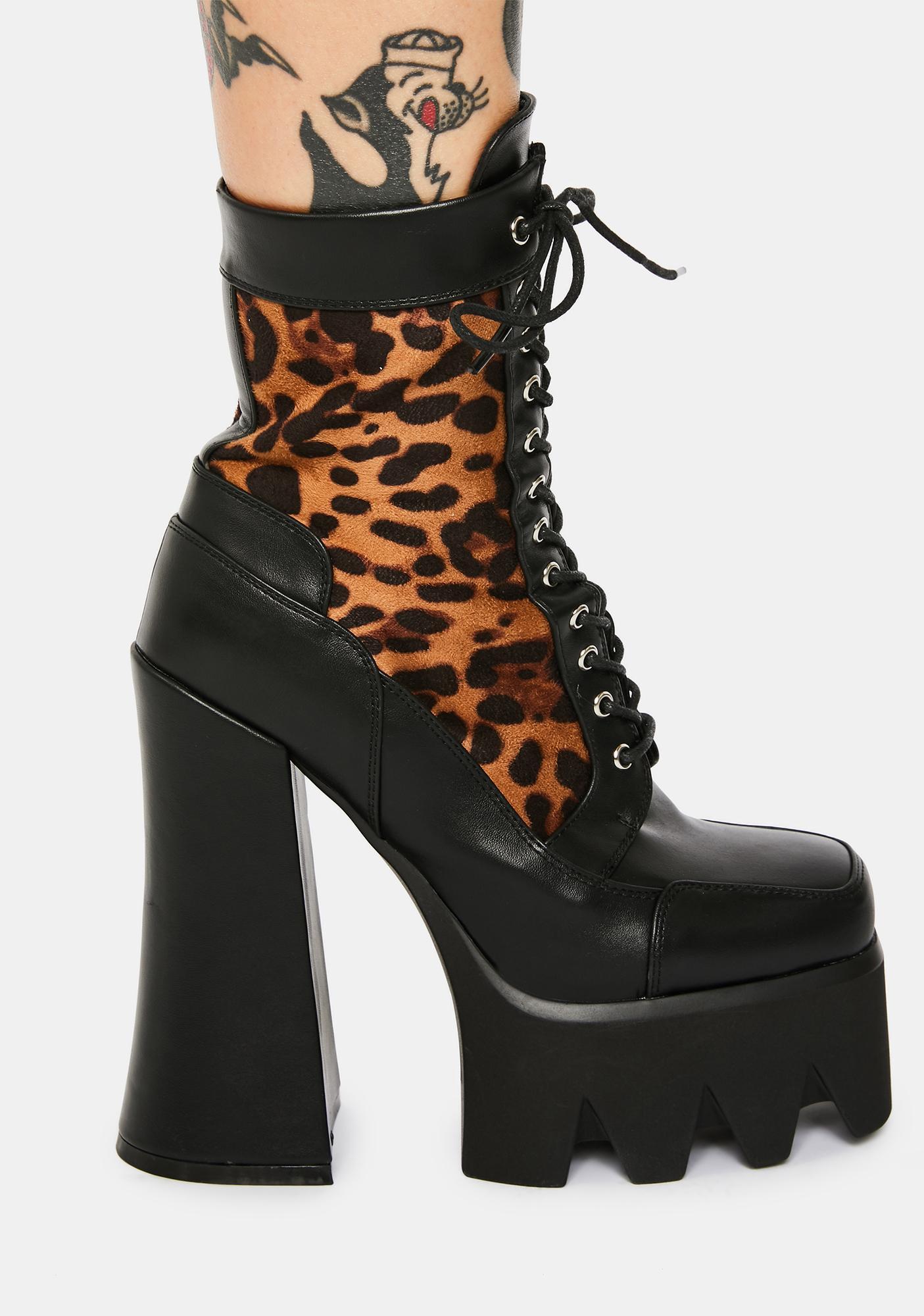 Lamoda Faux Freaky Platform Boots