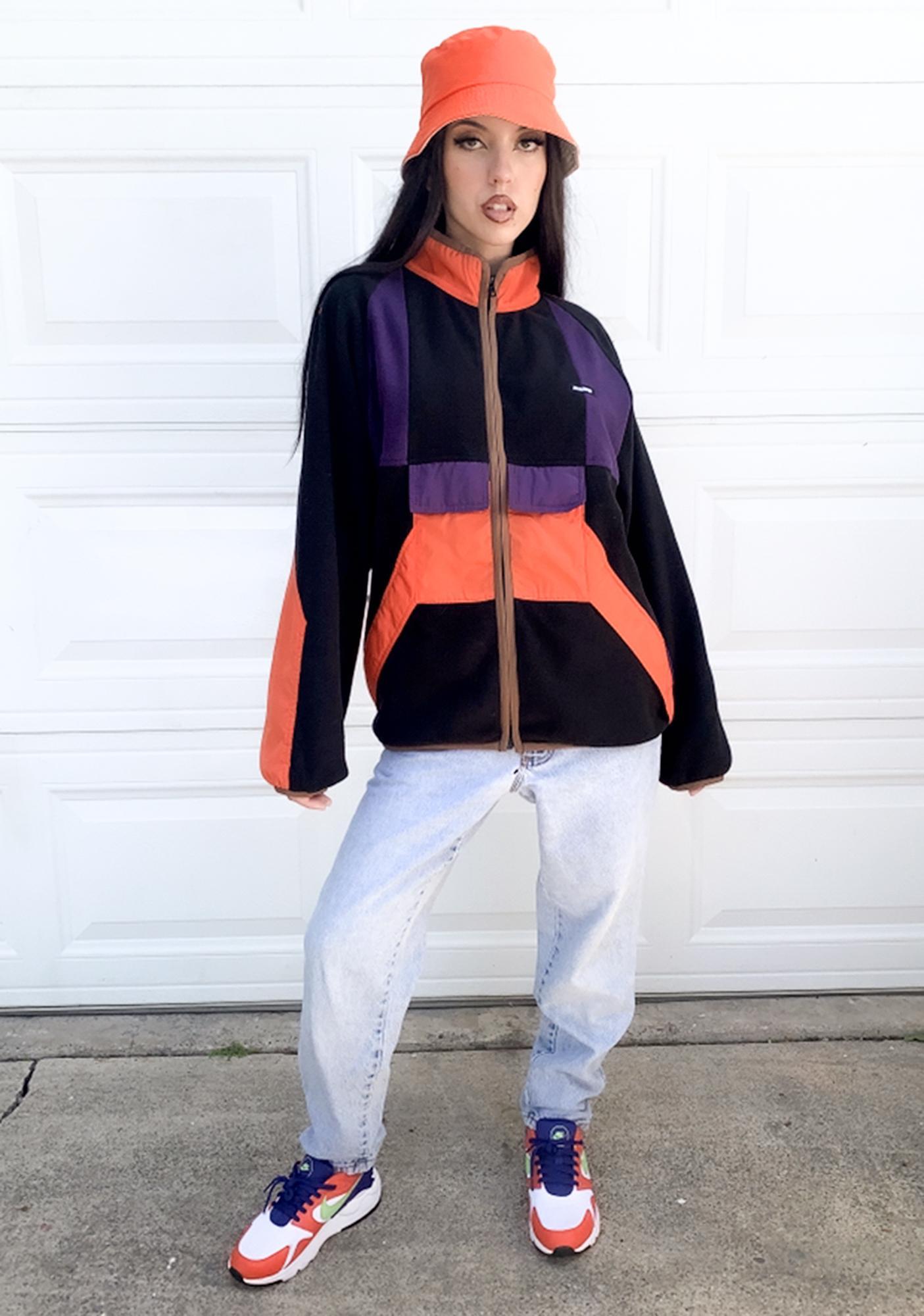 XLARGE Black Multi Paneled Zip Jacket