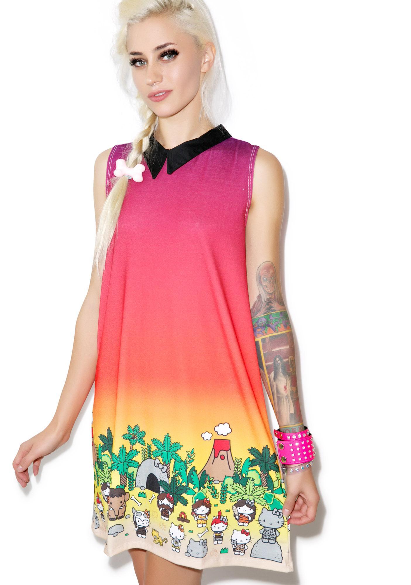 Japan L.A. Hello Kitty Caveman Shift Dress