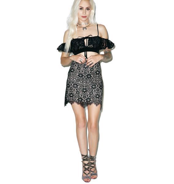 For Love & Lemons Shadow Rosemary Mini Skirt