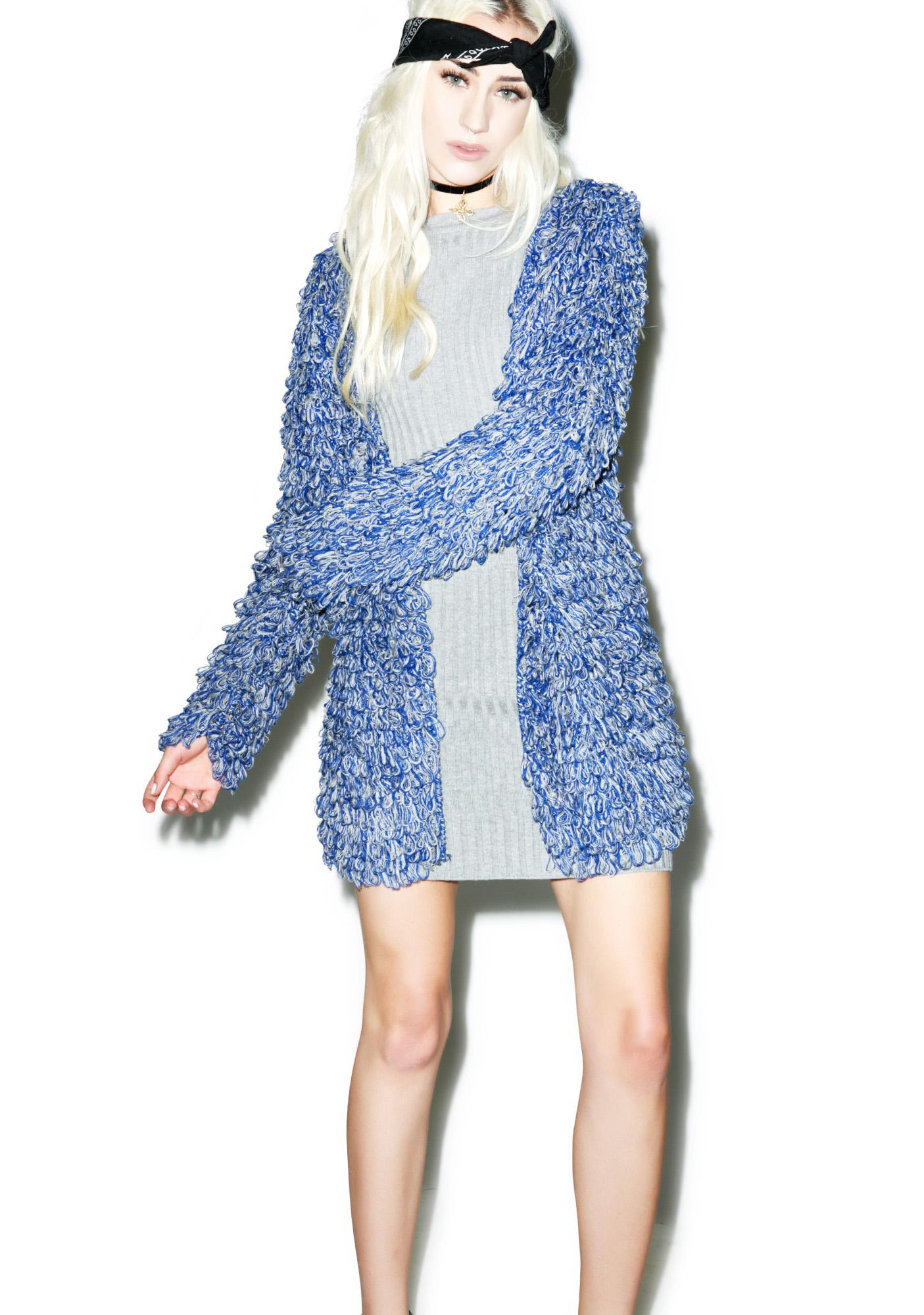 For Love & Lemons Blue-Grey Joplin Cardi