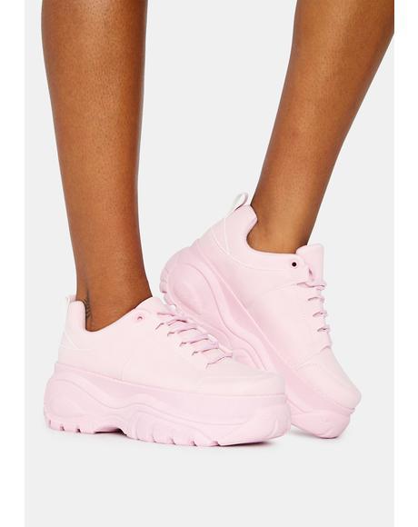 Bubblegum Soar High Platform Sneakers