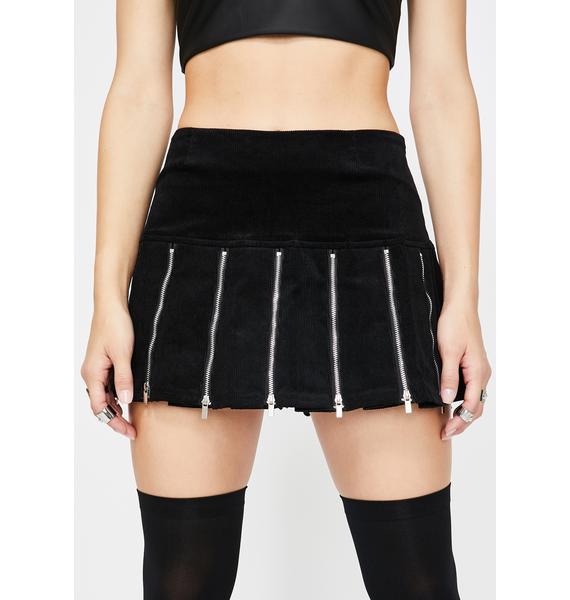 I AM GIA Black Claudia Mini Skirt