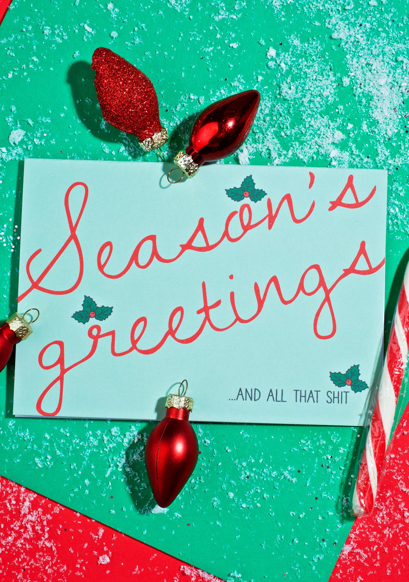 Lost Marbles Co Season's Greetings Card