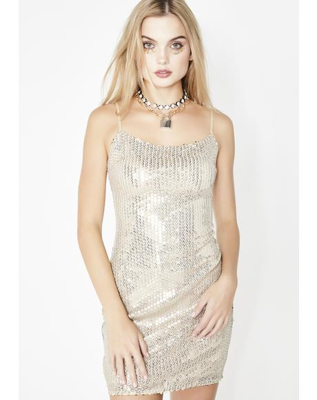 Shiny Tingz Mini Dress