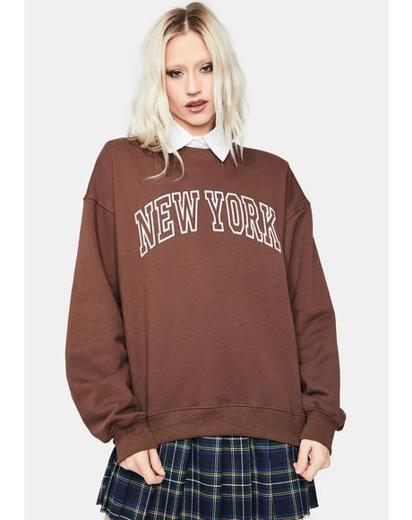 Coffee Big Apple New York Pullover