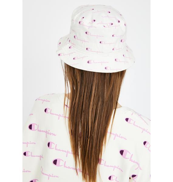 Champion Chalk Script Twill Bucket Hat