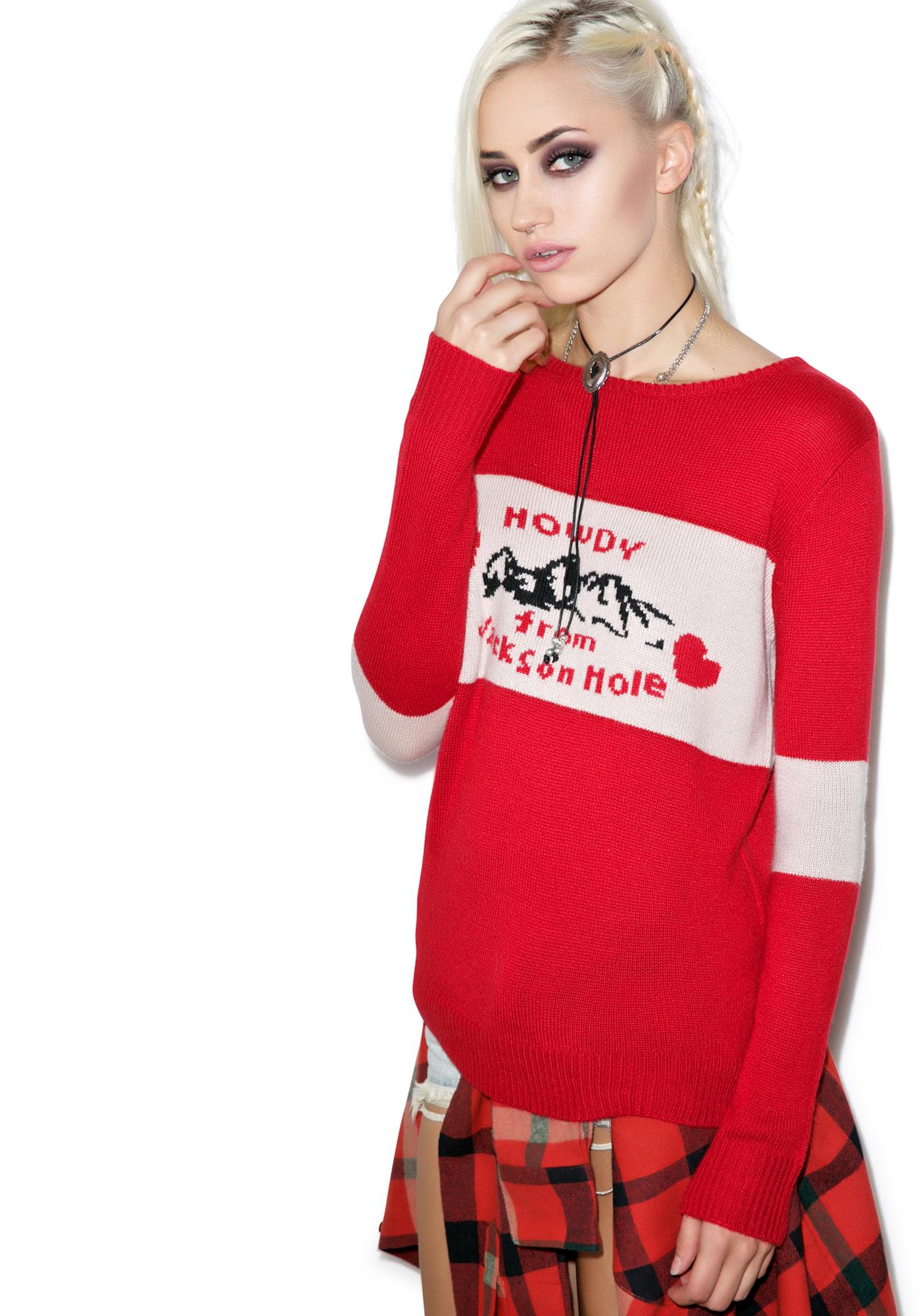 For Love & Lemons Howdy From Jackson Hole Sweater