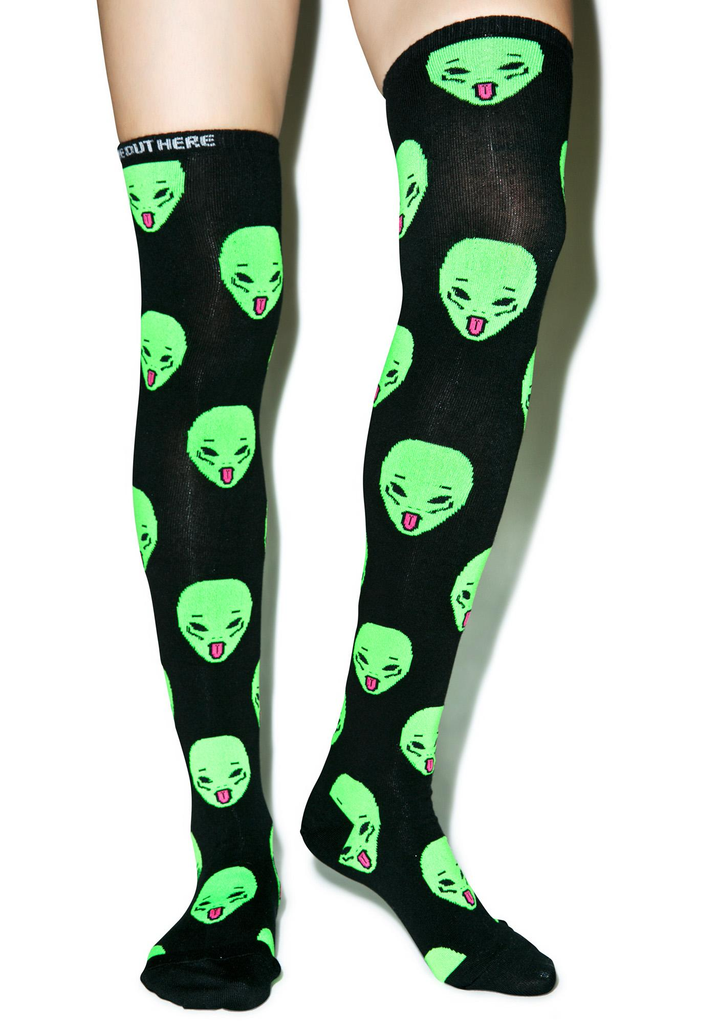 RIPNDIP Ayy LMAO Over The Knee Socks