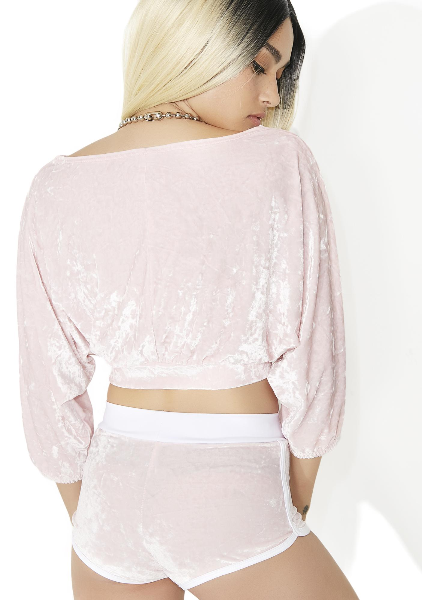 Sugarpuss Sweet N' Sassy Velvet Crop Top