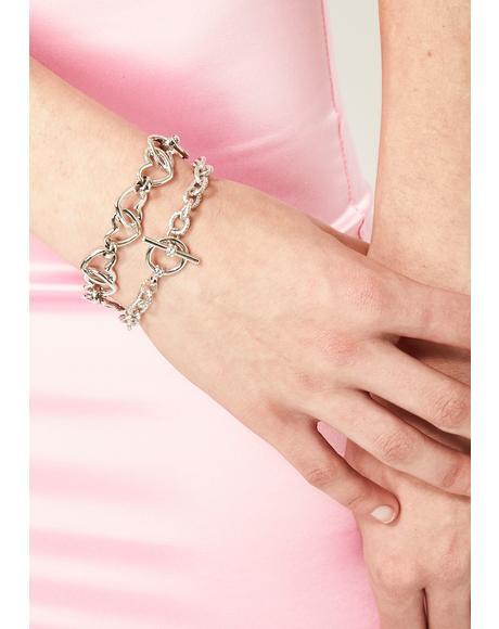 Fast Heartbeat Chain Bracelet