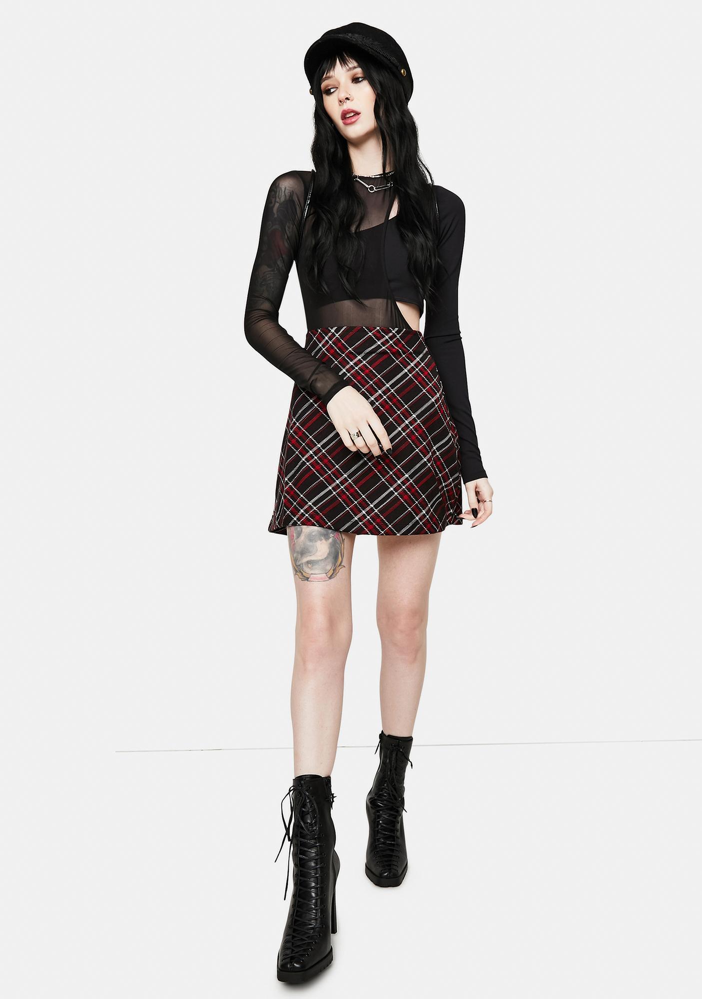 OW INTIMATES Kari Mesh Two-Piece Bodysuit