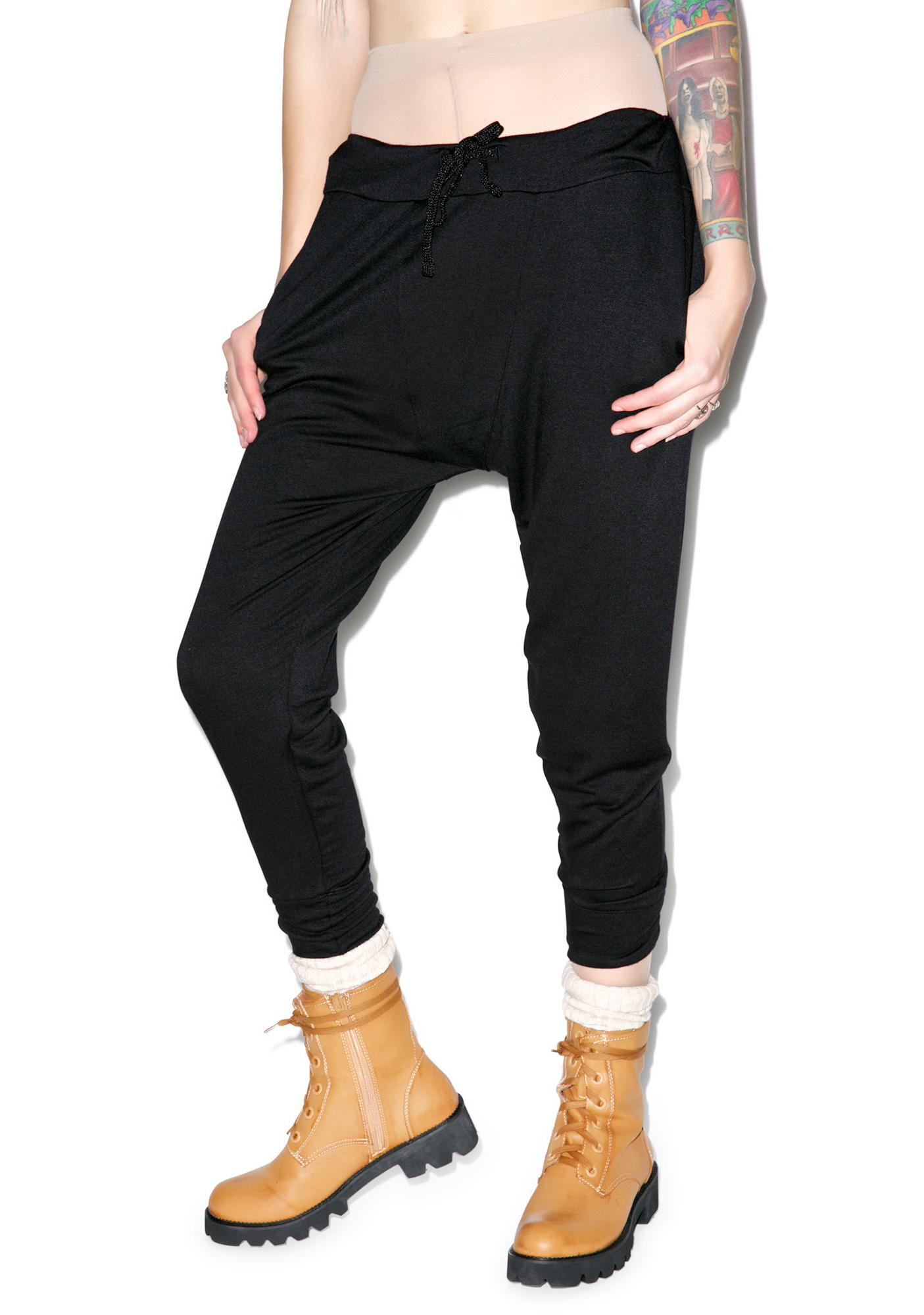 Benjamin Jay Rolling Blackout Drop-Crotch Sweats