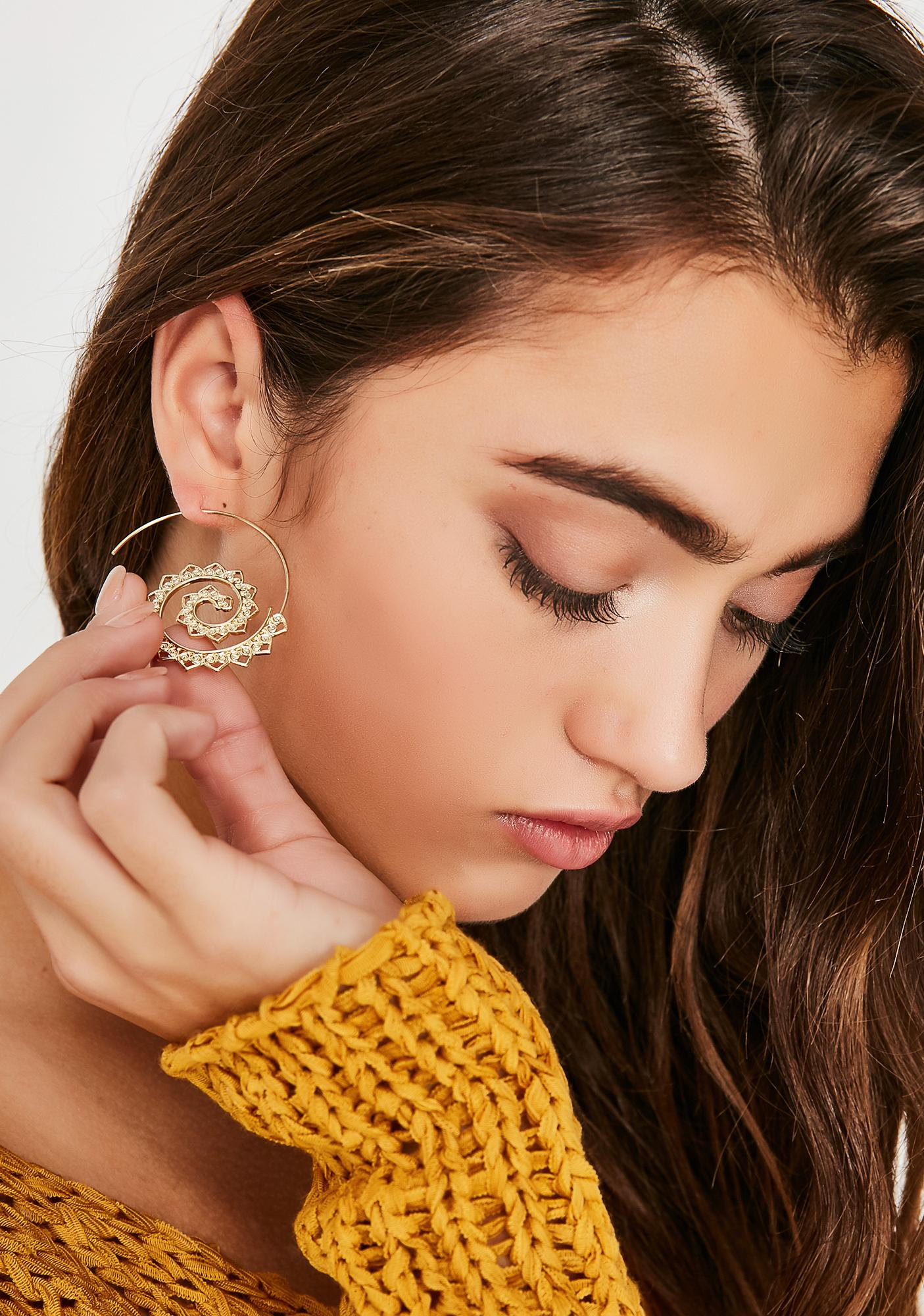 Wonder Lust Spiral Earrings