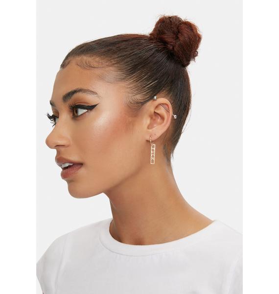 Real Talk Only Hoop Earrings