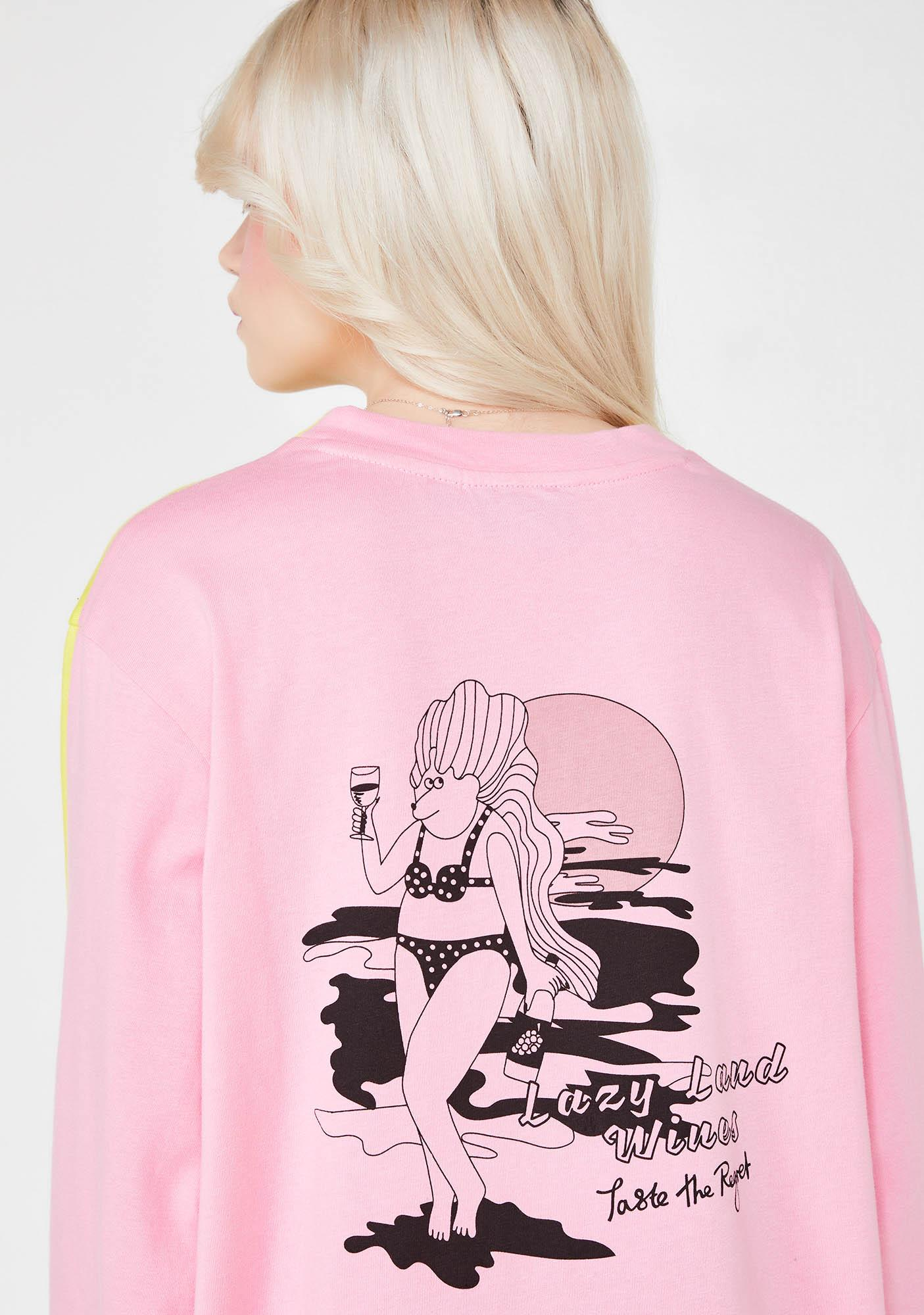 Lazy Oaf Taste The Regret Long Sleeve T-Shirt