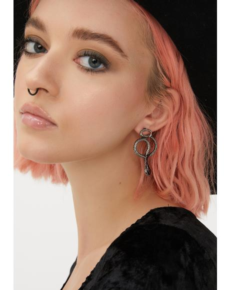 Dare Devils Snake Earrings