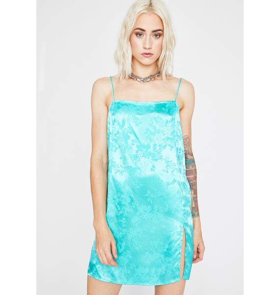 Aqua Strike A Posy Mini Dress
