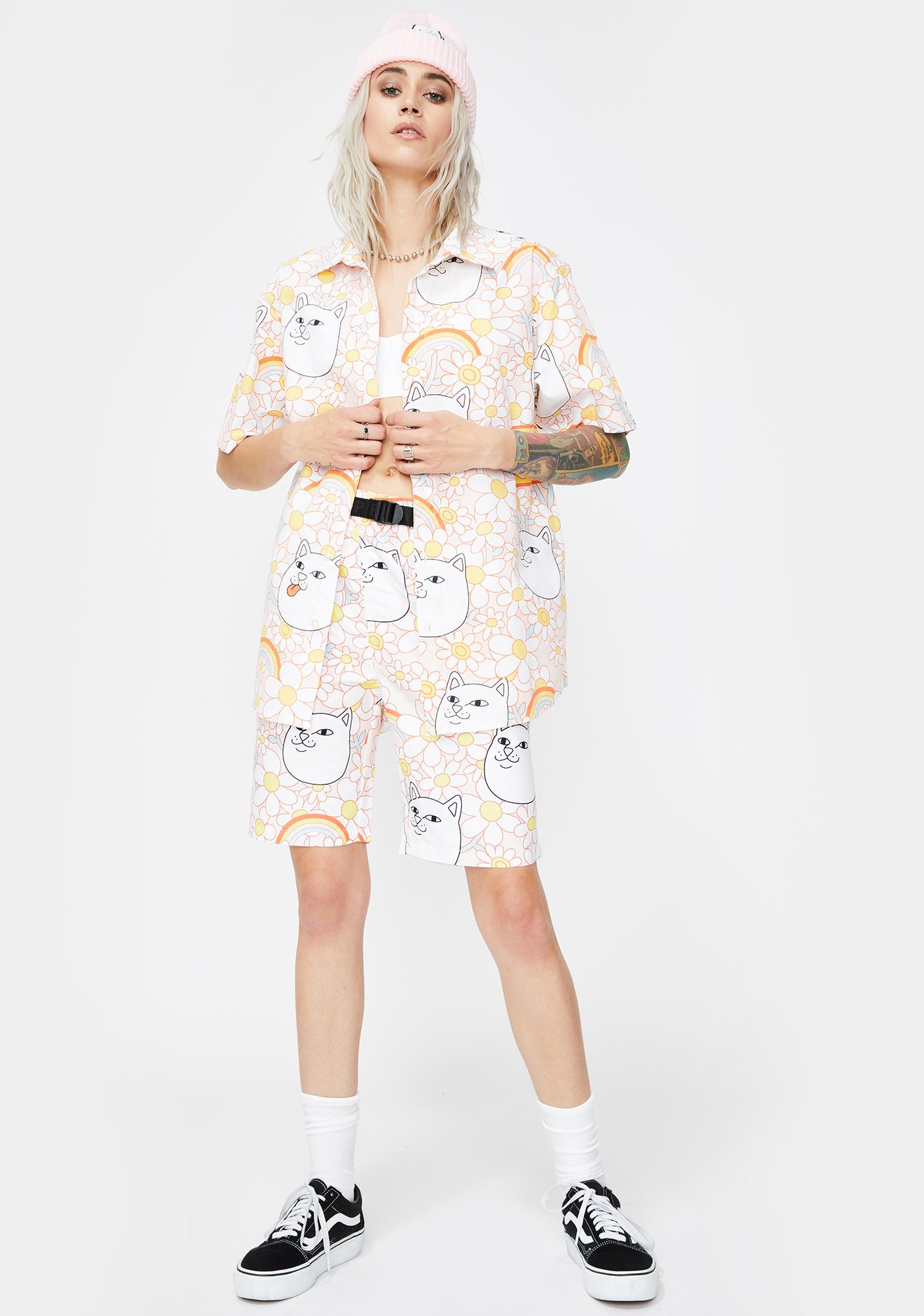 RIPNDIP Daisy Daze Button Up Shirt