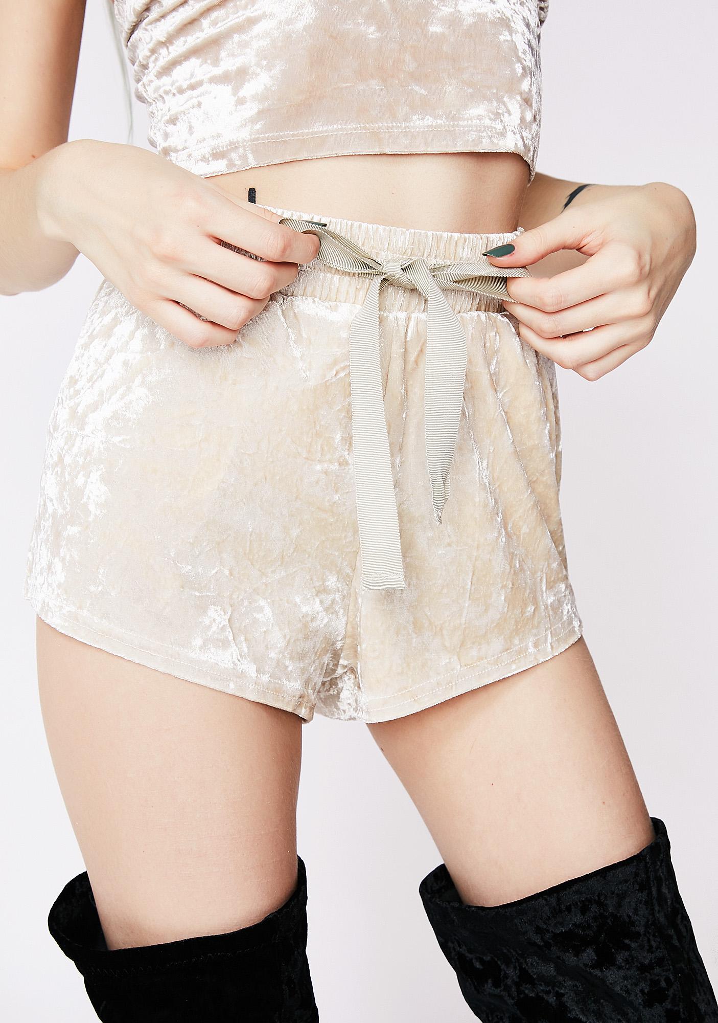 Ice Maiden Velvet Shorts