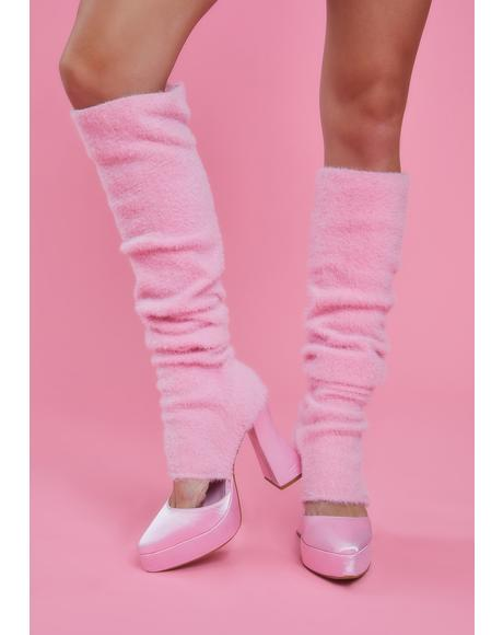 Feelings Of Bliss Leg Warmer Heels