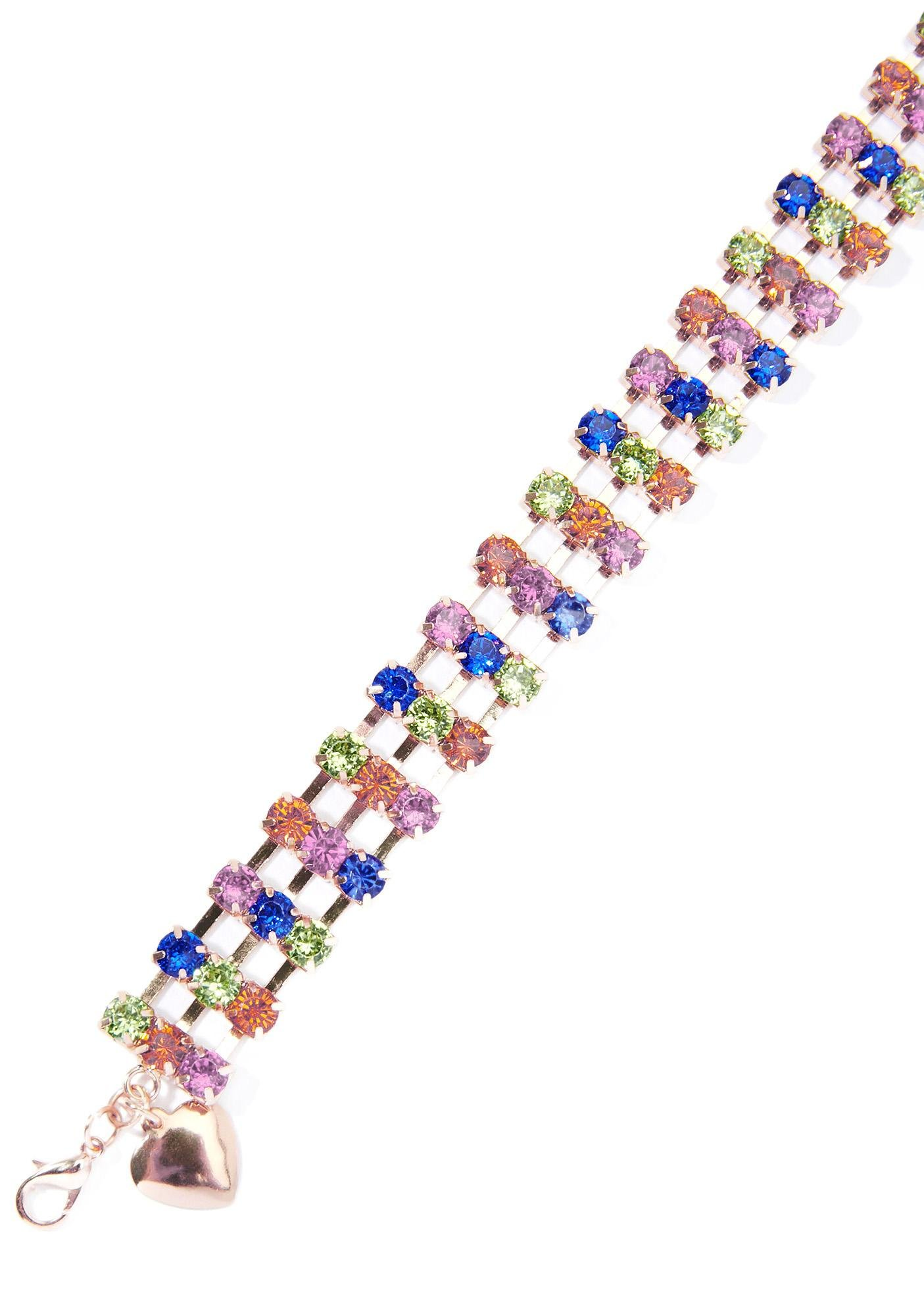 Rainbow Perfect Punctuation Rhinestone Choker