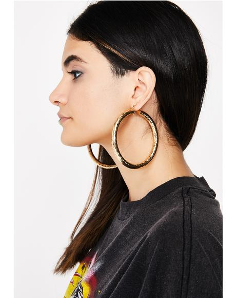 Queen Of The Block Hoop Earrings