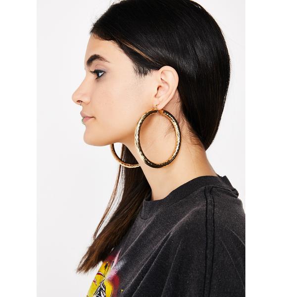 Queen Of The Block Hoop Earrings