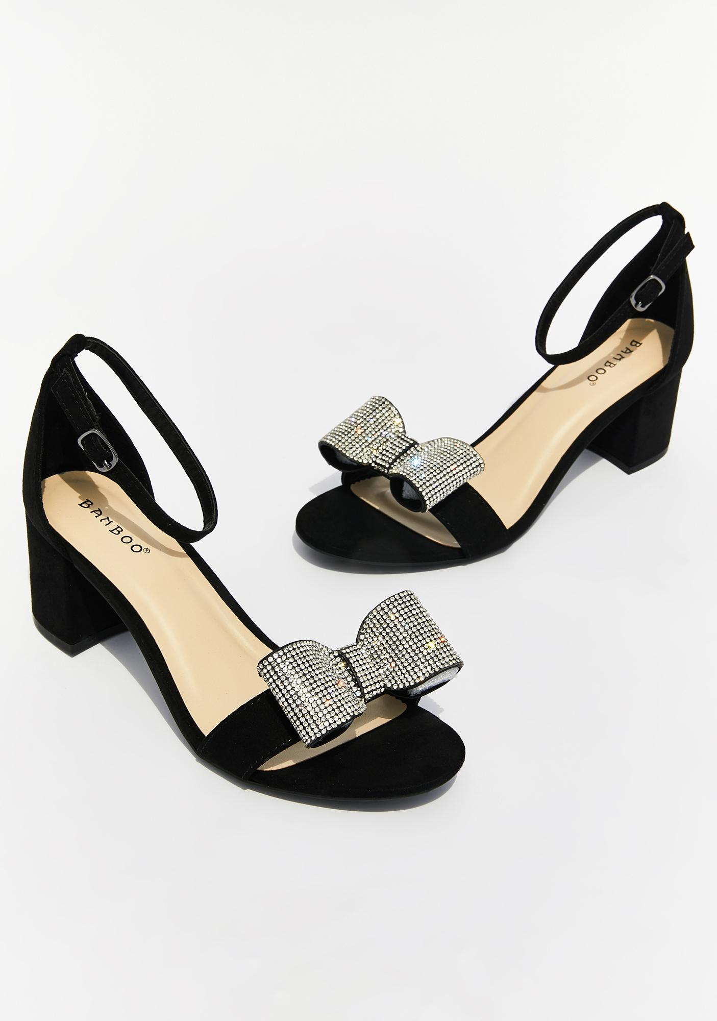 Classy All Wrapped Up Peep Toe Heels
