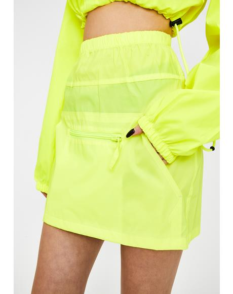Reflective Mini Skirt