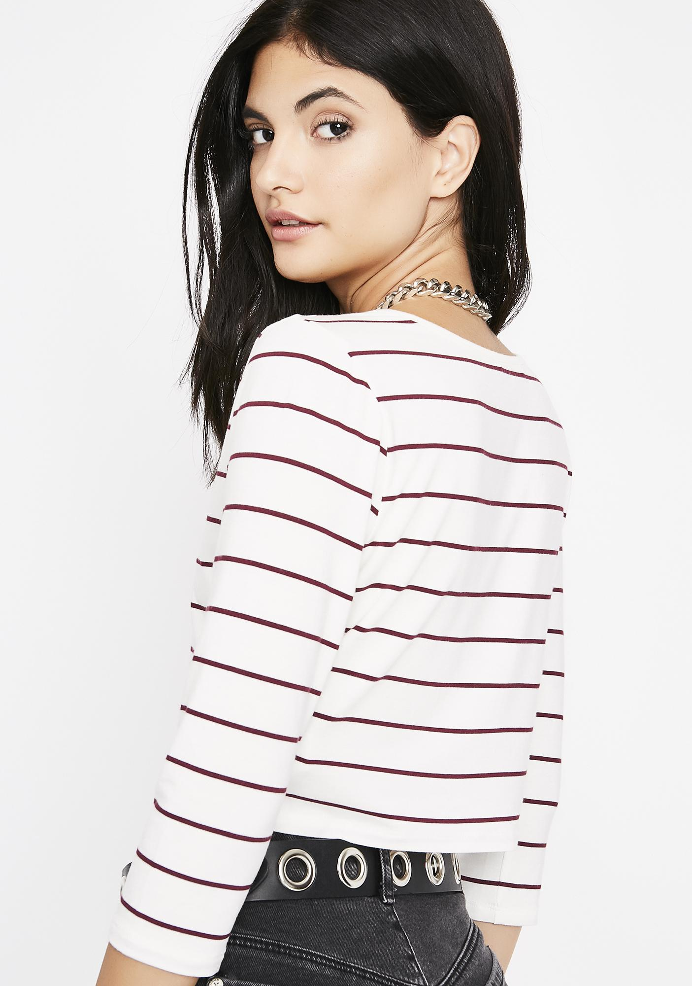 Pure Don't Be Lame Stripe Top