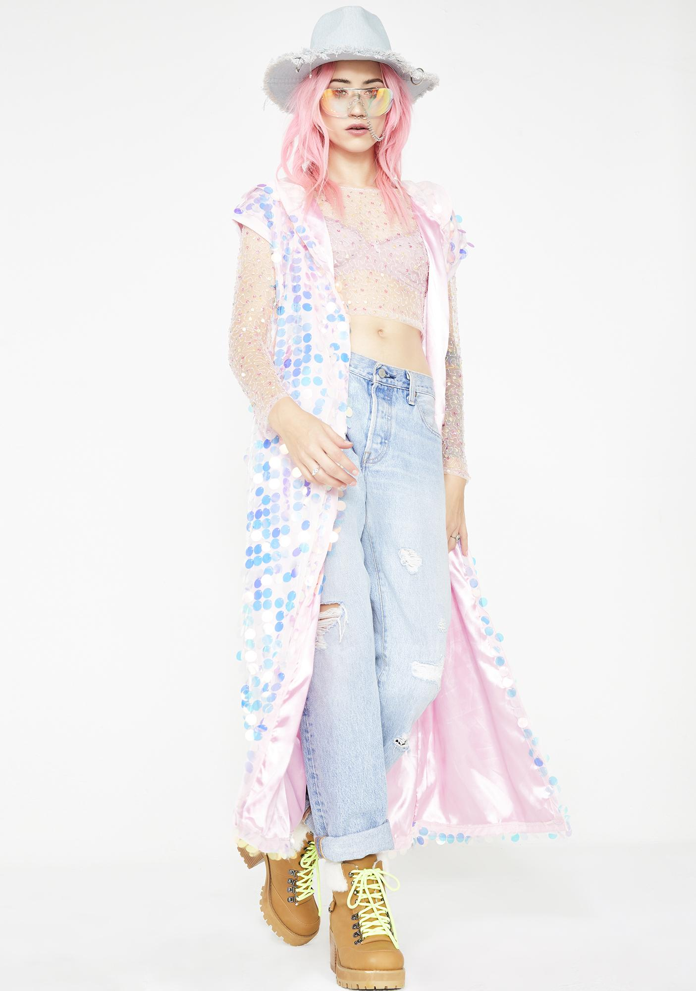 Pixie Paradise Sequin Kimono
