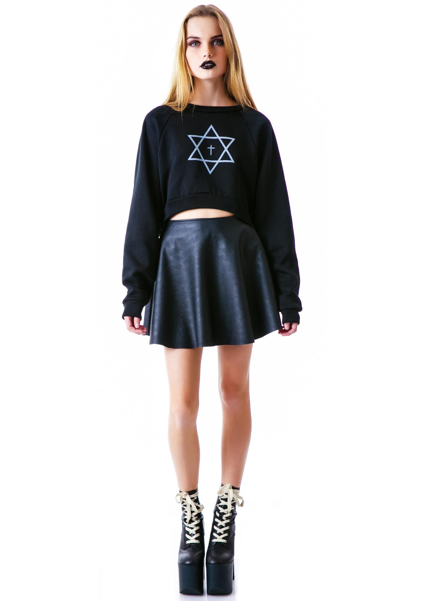 United Couture Trippy Cropped Sweatshirt