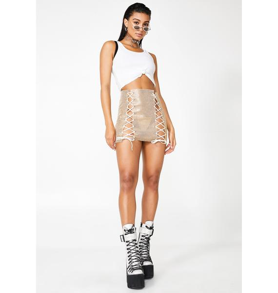 Glowin' Dare To Dance Mini Skirt