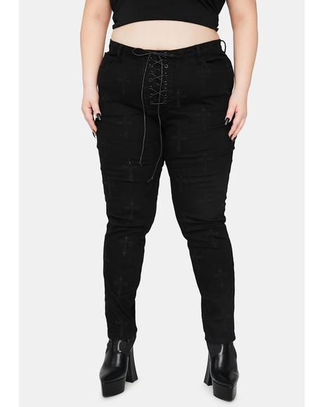 True Daughter Of The Queen Embroidered Jeans