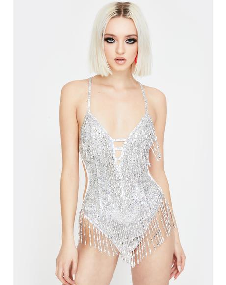 Shimmy Shimmy Holographic Sequin Bodysuit