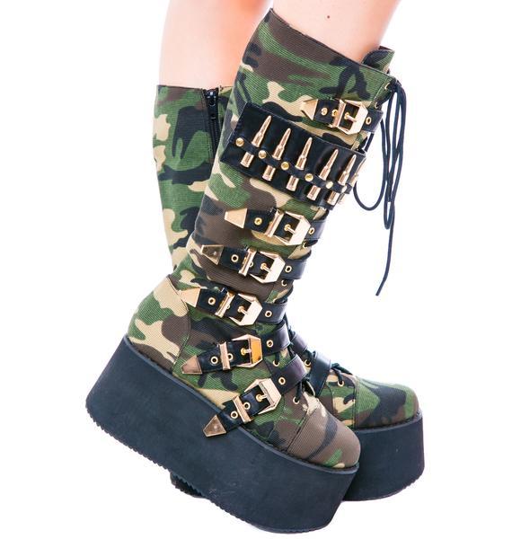 Privileged Bully Platform Buckle Boot