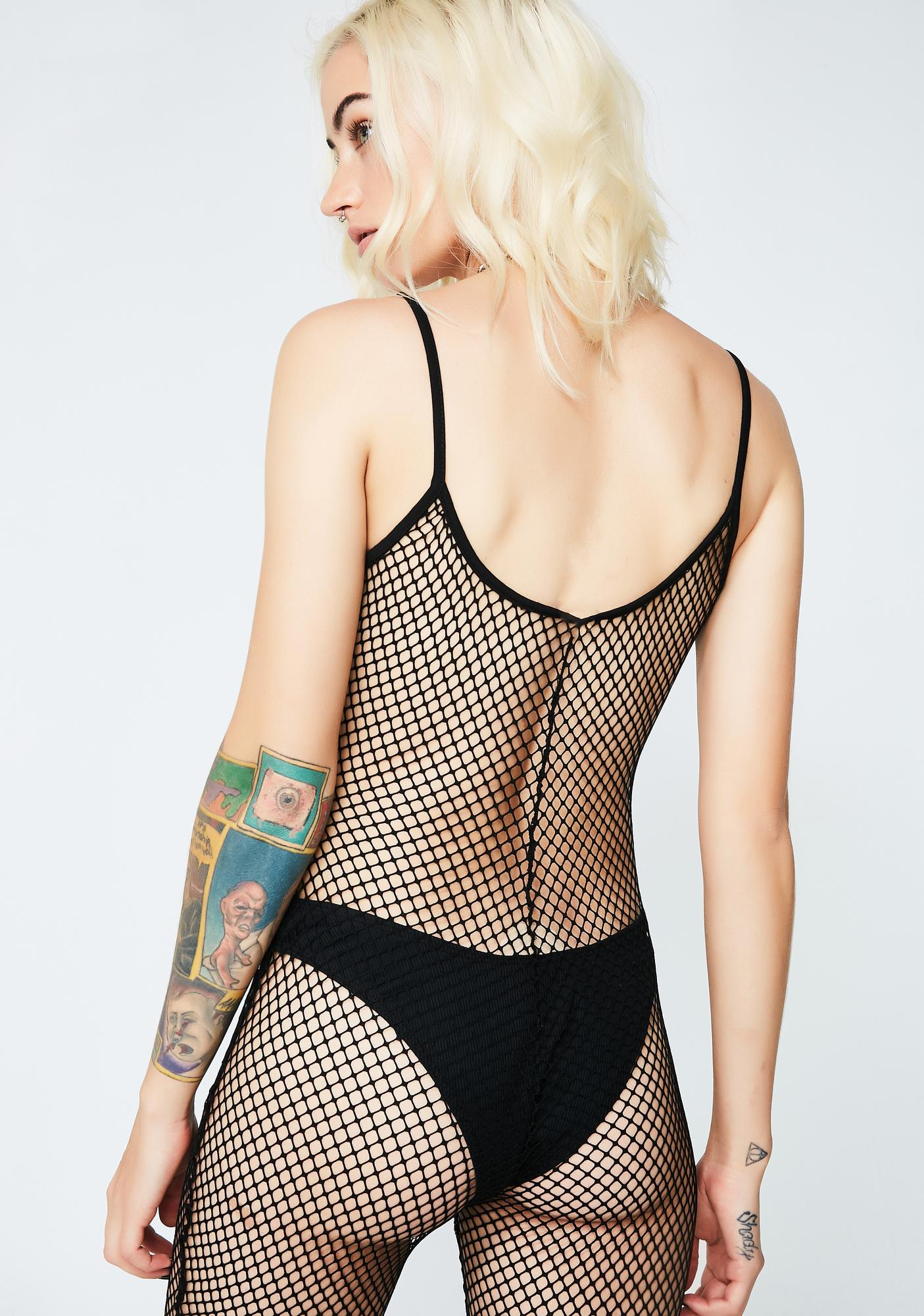 Peep This Fishnet Catsuit