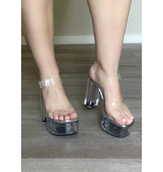 Poster Grl Champagne Room Clear Heels