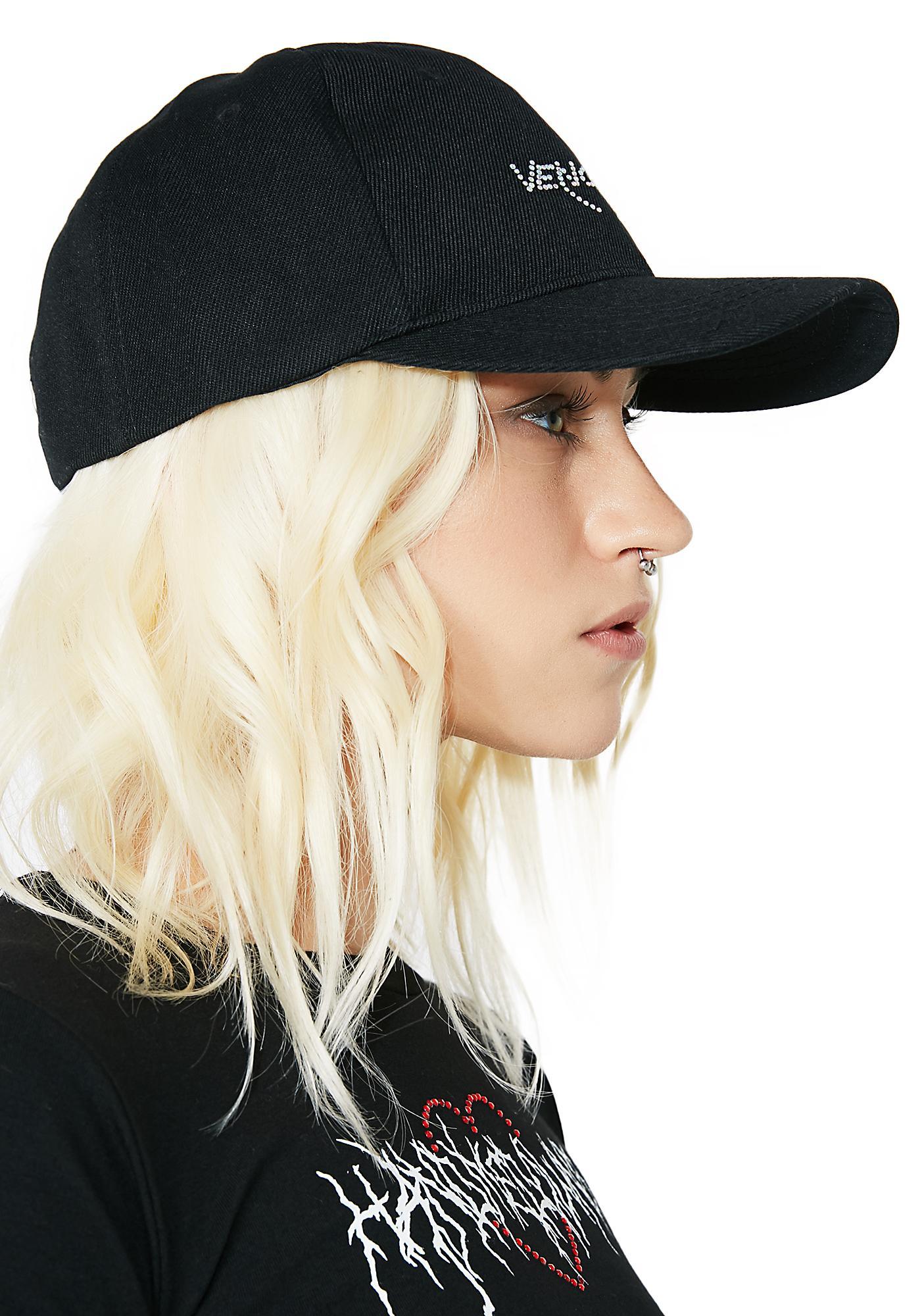 Venomiss NYC Black Baby Crystal Logo Hat