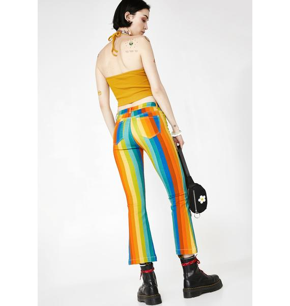 Current Mood Candy Kaleidoscope Flare Pants