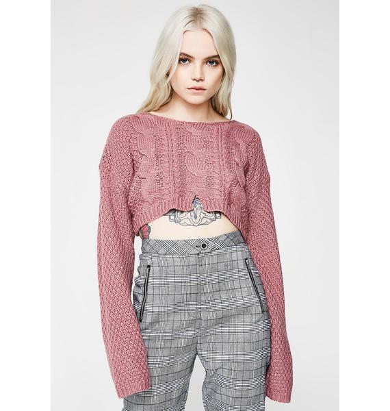 Sweet Thang Crop Sweater