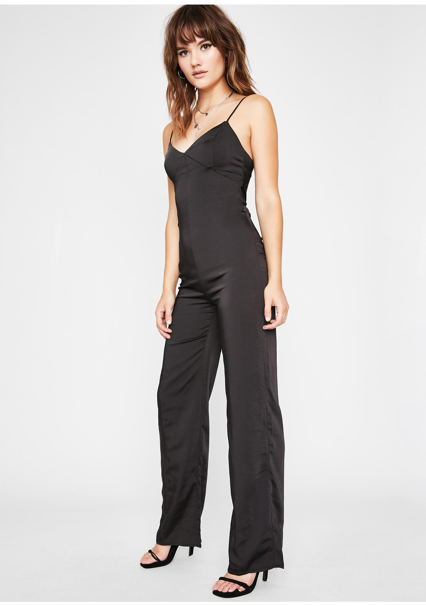 Extra Fly Satin Jumpsuit