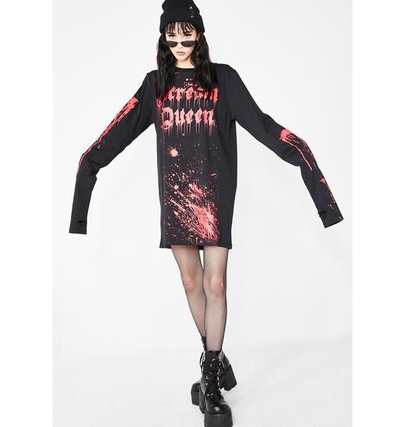 Dolls Kill Bloody Murder Long Sleeve Tee