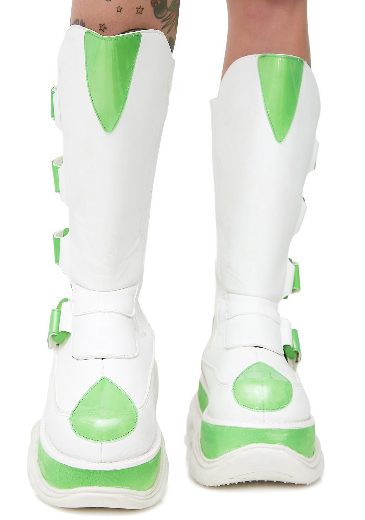 Demonia Circuit Board UV Reactive Platform Boots