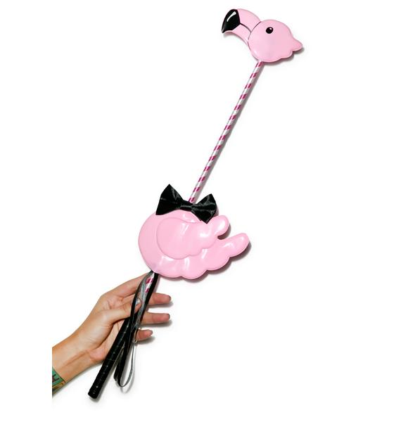 Flamingo A Go-Go Riding Crop